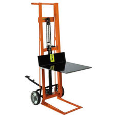 Two-Wheeled Hydraulic Steel Framed Pedal Lift With Platform Lifter