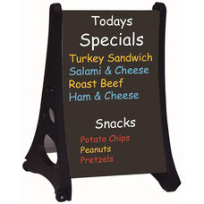 Roll A-Frame Double Sided Sidewalk Sign with Black Write On Board - 36