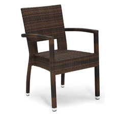 Seattle Collection Stackable Outdoor Arm Chair - Golden Crown