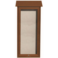 Cedar Slimline Series Top Hinged Single Door Plastic Lumber Message Center with Vinyl Surface - 34