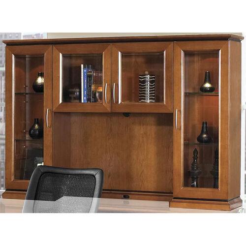 Our OSP Furniture Mendocino Hardwood Veneer Overhead Glass Door Hutch is on sale now.