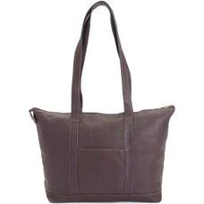 Luxury Travel Weekender Duffel Bag - Genuine Colombian Leather - Cafe