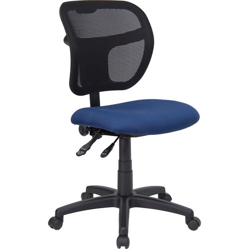 Our Mid-Back Navy Blue Mesh Swivel Task Office Chair with Back Height Adjustment is on sale now.