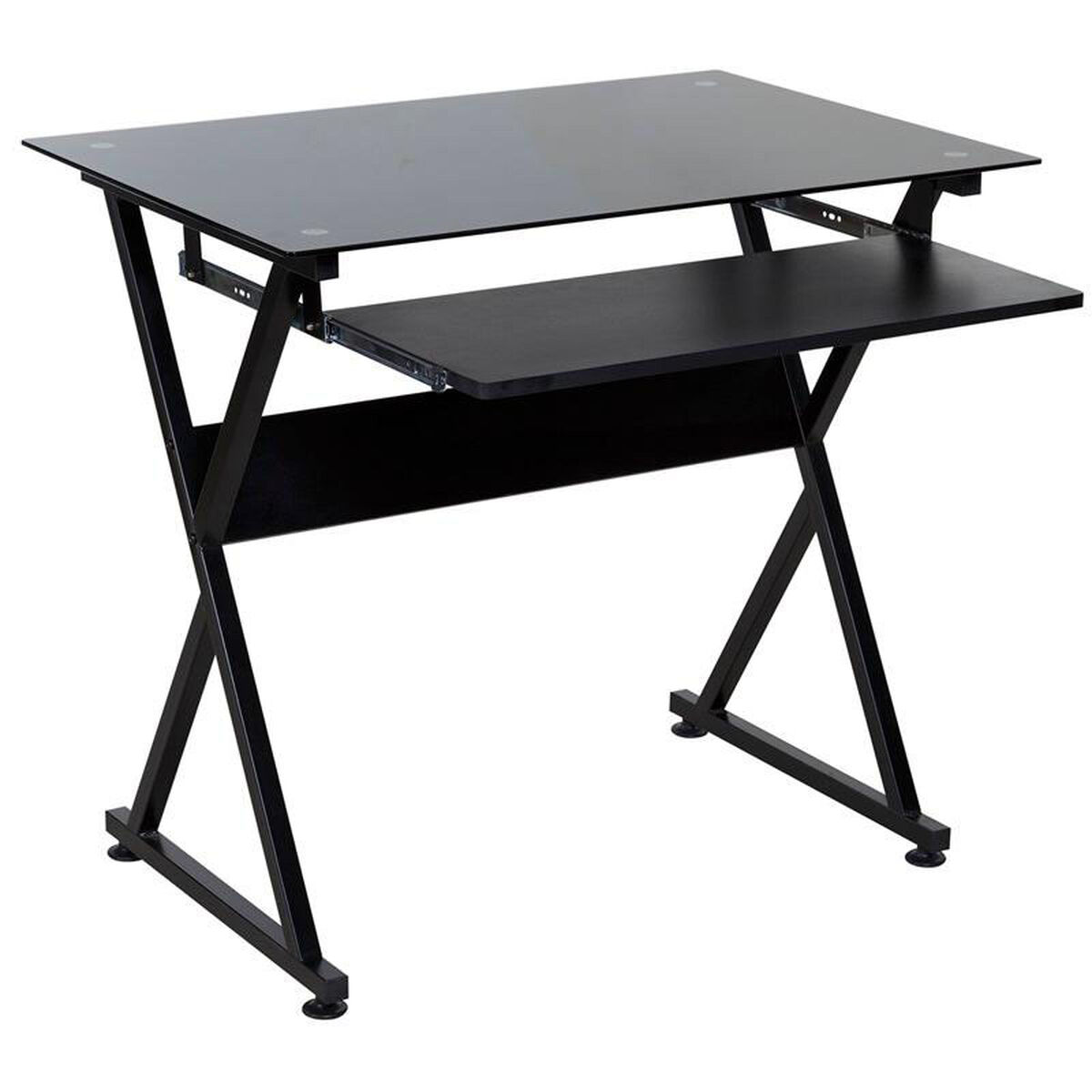 Our Onespace Ultramodern Glass Computer Desk Black Is On Now