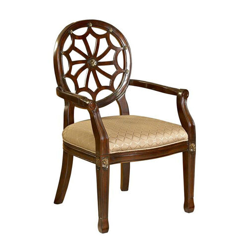 Our Spider Web Back Accent Chair - Medium Mahogany is on sale now.