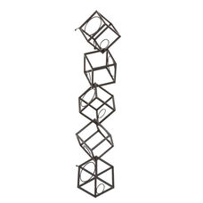 Marco Abstract Geometric Brushed Metal 3D Cube Wall Mounted 36.5