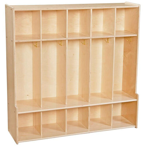 Our Contender 5 Section Seat Locker with Cubby Storage - Unassembled - 46.75