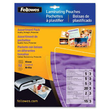 Fellowes Assorted Laminator Pouches - Pack Of 52