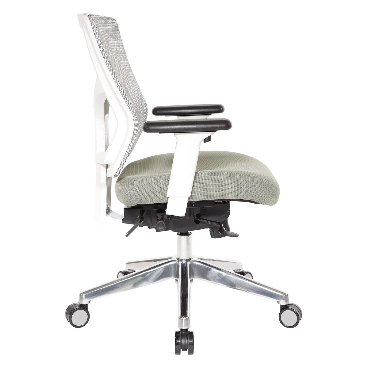 Our Pro Line Ii Progrid White Mesh Mid Back Office Chair With 2 Way