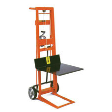 Two-Wheeled Winch Model Steel Frame Pedal Lift With Platform Lifter
