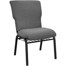 Advantage Black Marble Discount Church Chair - 21 in. Wide