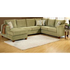 Bailey Contemporary Style Polyester 3 Piece Sectional - Bella Lichen