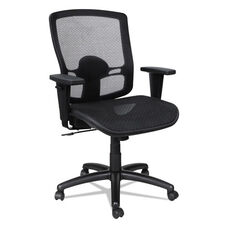 Alera® Etros Series Suspension Mesh Mid-Back Synchro Tilt Chair - Mesh Back/Seat - Black