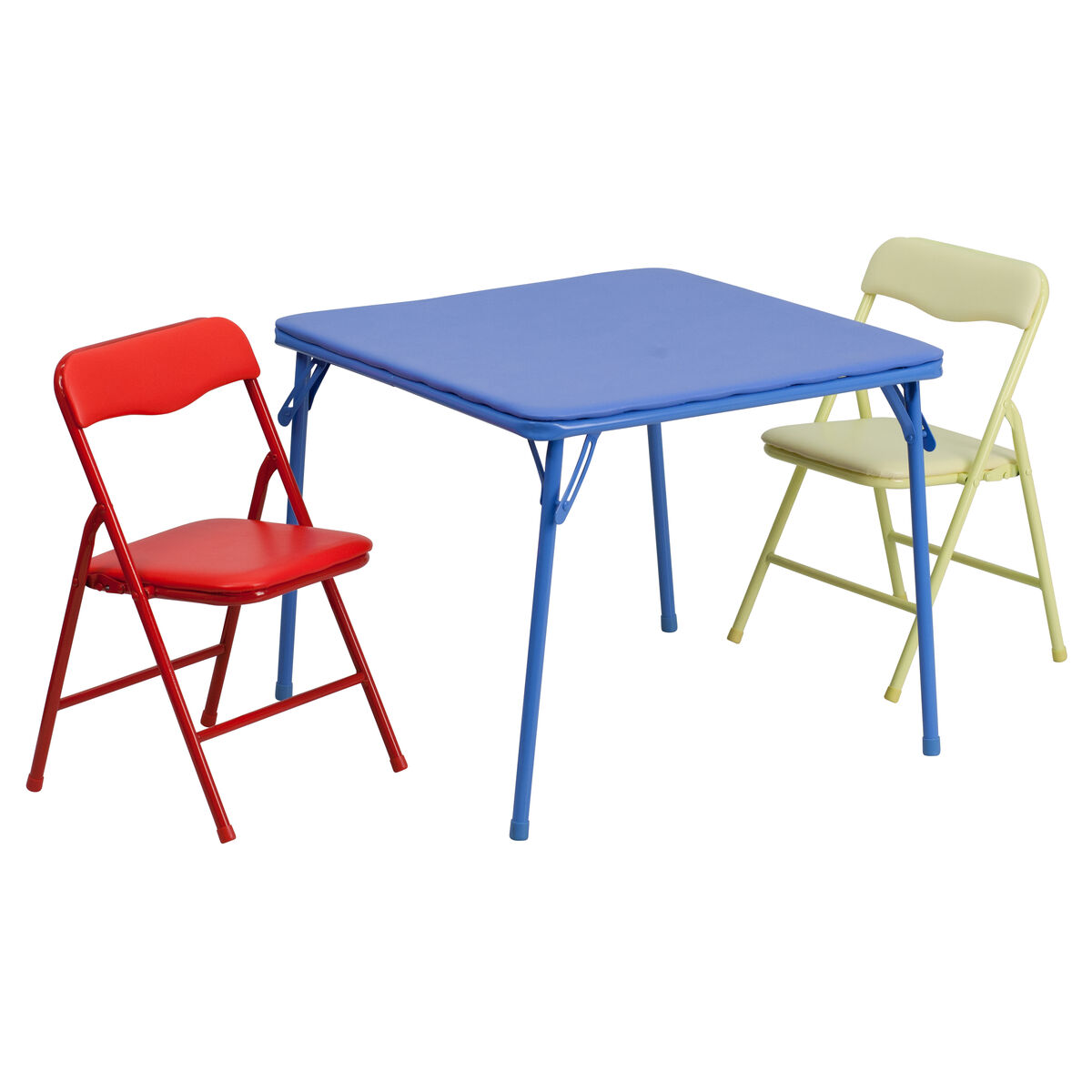 3 piece kids folding table set jb 10 card gg bizchair our kids colorful 3 piece folding table and chair set is on sale now watchthetrailerfo