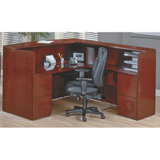 OSP Furniture Sonoma Wood Reception Station - Cherry