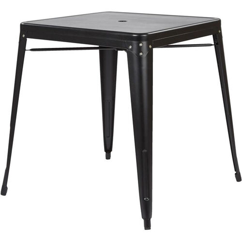 Our OSP Designs Bristow Metal Dining Table with Umbrella Hole - Matte Black Finish is on sale now.