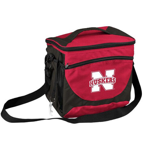 Our University of Nebraska Team Logo 24 Can Cooler is on sale now.