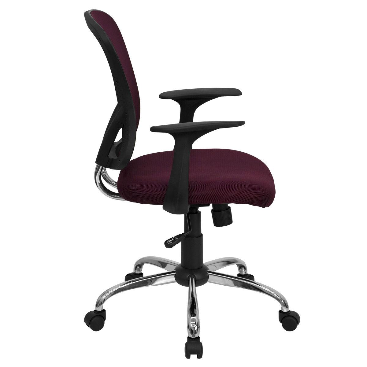 burgundy mid back task chair h 8369f all by gg bizchair com
