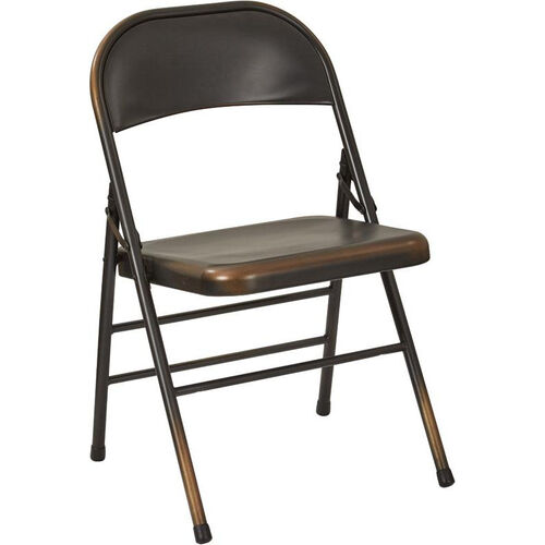 Our OSP Designs Bristow Distressed Steel Folding Chair - Set of 2 - Antique Copper is on sale now.
