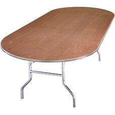 Standard Series Race Track Banquet Table with Plywood Top - 72
