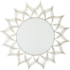 OSP Designs Silver Metal Round Mirror