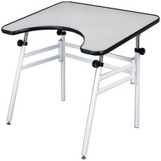 Reflex Black and White Foldable Metal Table - 30