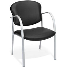 Danbelle Anti-Microbial and Anti-Bacterial Vinyl Contract Reception Chair - Black