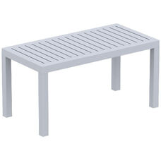 Ocean Outdoor Resin Rectangle Coffee Table - Silver Gray