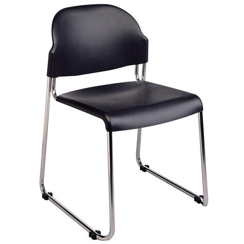 Our Work Smart Stack Chair with Plastic Seat and Back - Set of 2 - Black is on sale now.