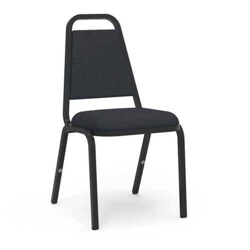Our 8900 Series Trapezoid Back Stack Chair with Vinyl Upholstery and Black Frame - 18