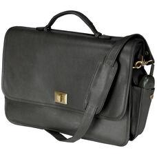 Executive Briefcase - Milano Top Grain Leather - Black