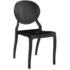 Emma Resin Polypropylene Stackable Event Chair - Black