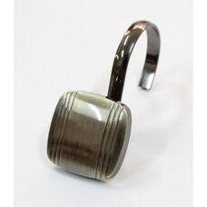 Captain 12 Piece Metal Modern Decorative Shower Hooks - Oil Rubbed Bronze