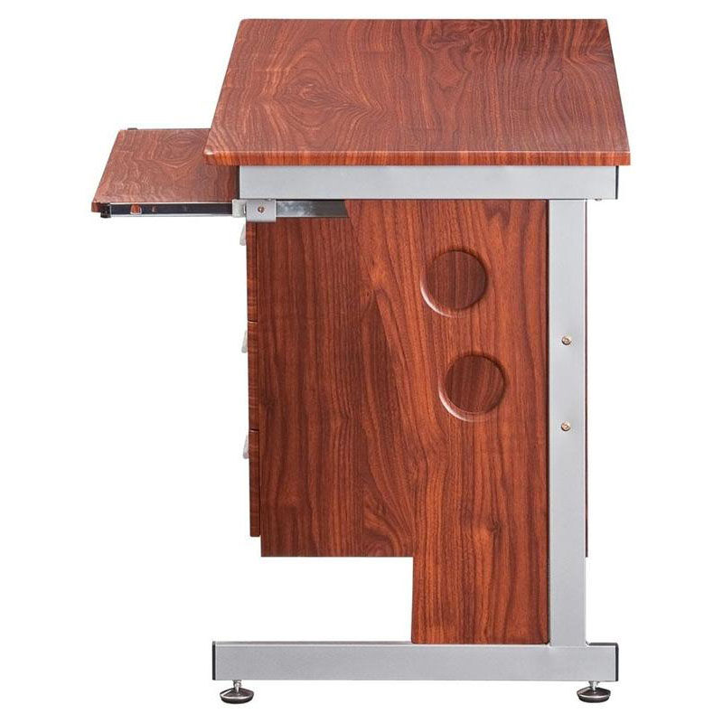 Our Techni Mobili Computer Desk With Storage   Mahogany Is On Sale Now.