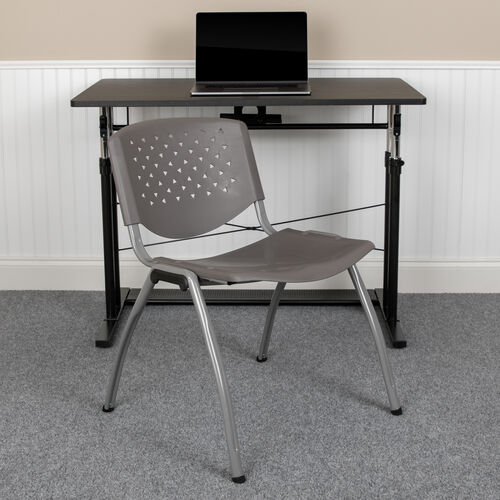 Our HERCULES Series 880 lb. Capacity Gray Plastic Stack Chair with Titanium Gray Powder Coated Frame is on sale now.