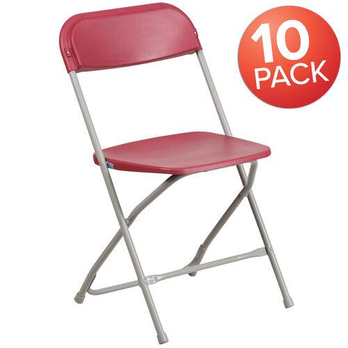 Our 10 Pk. HERCULES Series 650 lb. Capacity Premium Beige Plastic Folding Chair is on sale now.
