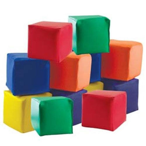 Our SoftZone® Set of Twelve Colorful Vinyl Covered Foam Patchwork Toddler Blocks is on sale now.