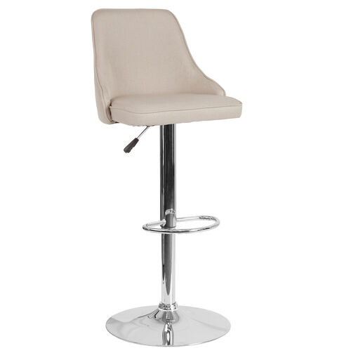 Our Trieste Contemporary Adjustable Height Barstool in Beige Fabric is on sale now.