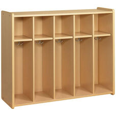 2000 Series 5 Toddler Size Compartment Locker with Double Hooks