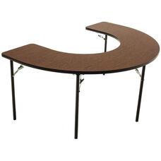 Horseshoe Shaped Folding Feeding Table with 1