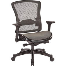 Space R2 SpaceGrid Back and Seat Office Chair with Flip Arms