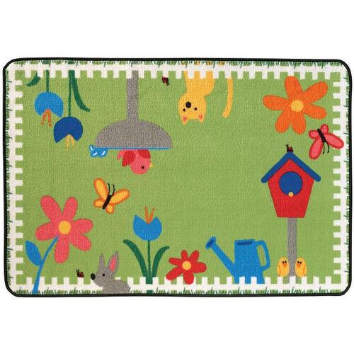 Kids Value Garden Time Rectangular Nylon Rug - 36