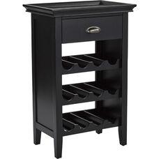 INSPIRED by Bassett Portofino Wine Cabinet - Brushed Black
