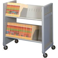 Basic File Cart with 2 Shelves - Light Gray