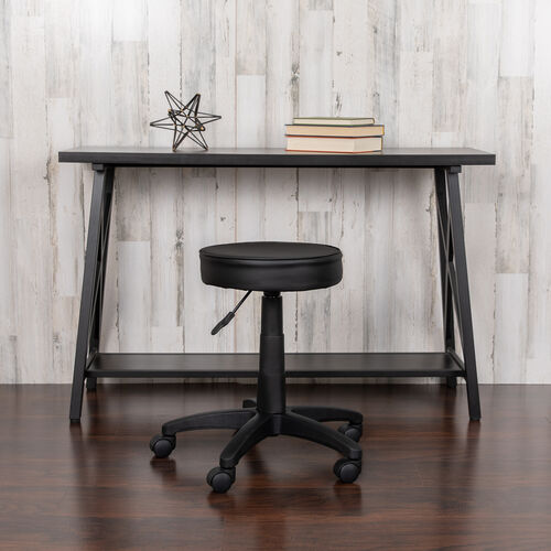 Our Black Adjustable Doctors Stool on Wheels with Ergonomic Molded Seat is on sale now.