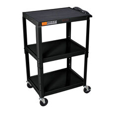 Black Open Shelf Utility & Audio Visual Cart