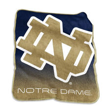 University of Notre Dame Team Logo Raschel Throw