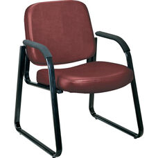 Anti-Microbial and Anti-Bacterial Vinyl Guest and Reception Chair with Arms - Wine