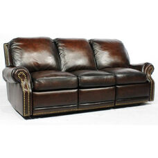 Premier All Leather Power Sofa - Stetson Coffee