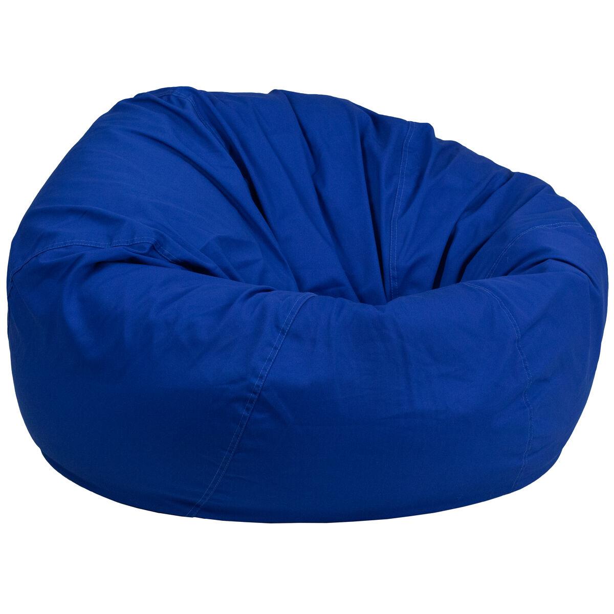 Royal Blue Bean Bag Chair Dg Bean Large Solid Roybl Gg